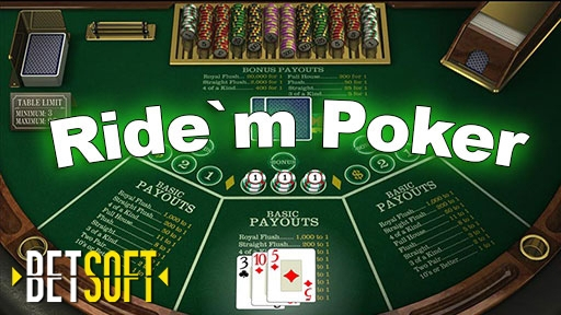 Casino Table Games Ride`m Poker